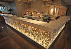 The Led bar counter is a very important furniture in the club. A nice design bar counters make the club more fashion and dazzling. Cafe Bar Counter, Restaurant Counter, Bar Counter Design, Deco Restaurant, Restaurant Interior Design, Lounge Design, Bar Lounge, Küchen Design, Modern Home Bar