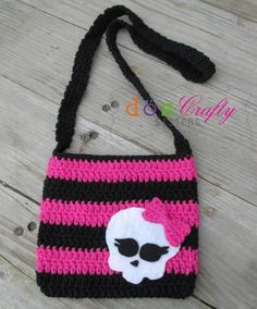 Monster High inspired Crochet Bag Purse with by DosCraftySisters, $19.00