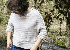 Ravelry: SaperliPOPette boxy sweater pattern by Sylvie Damey