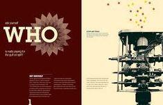 double page magazine spread Shepard Fairey - Google Search Bp Logo, Design Home App, Magazine Spreads, Design Research, Experiential, Editorial Design, Portfolio Design, Design Trends, Connection