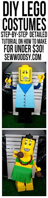 Déguisement Lego - DIY - Lego Halloween Costume DIY