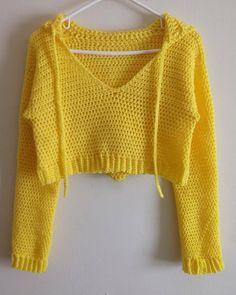 Crochet Fashion, Diy Fashion, Crochet Clothes, Diy Clothes, Crochet Outfits, Crochet Top Outfit, Easy Crochet, Knit Crochet, Diy Crochet Crop Top
