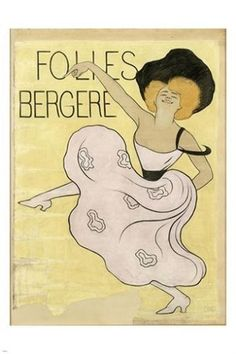 FOLIES BERGERE vintage ad poster LEONETTO CAPPIELLO french dance 24X36 HOT