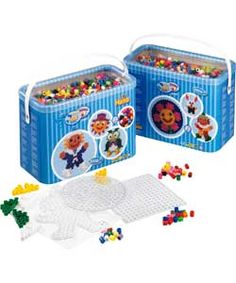 Hama Maxi Beads and Pegboards in Bucket.