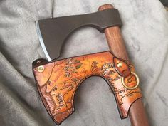 Custom leather hatchet sheath pic1