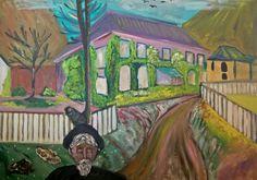 Naar een werk van Edvard Munch. Acryl op doek.