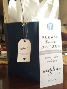 Want something seriously cute to give to your wedding guests in their Welcome Bags? Try these awesome DIY door hangers. The listing includes a
