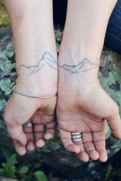 "flowerfield: "" Mountains of Glacier National Park, Montana on Christine's wrists. """