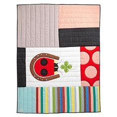 Land of Nod Charley Harper Lucky Ladybug Quilt (Twin)