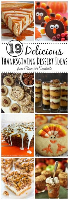 Delicious dessert ideas for your Thanksgiving dinner. // cleanandscentsibl… Advertisements Delicious dessert ideas for your Thanksgiving dinner. Köstliche Desserts, Holiday Desserts, Holiday Baking, Holiday Treats, Delicious Desserts, Dessert Recipes, Fall Treats, Holiday Foods, Thanksgiving Parties