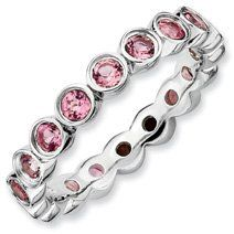 1.39ct Deep Care Silver Stackable Pink Tourm. Ring. Sizes 5-10 Available Jewelry Pot. $108.99. 30 Day Money Back Guarantee. Your item will be shipped the same or next weekday!. All Genuine Diamonds, Gemstones, Materials, and Precious Metals. 100% Satisfaction Guarantee. Questions? Call 866-923-4446. Fabulous Promotions and Discounts!