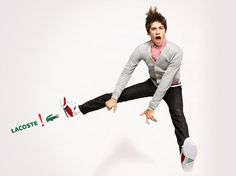 Lacoste red ad campaign - fashion ads. #Lacoste #Shoes