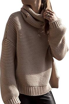 Amazing offer on Pink Queen Women's Casual Loose Turtleneck Oversize Knit Sweater Pullover Jumper online - Liketopclothing Casual Sweaters, Winter Sweaters, Pullover Sweaters, Jumper, Sweaters For Women, Oversize Pullover, Knit Sweaters, Pink Sweater, Cute Winter Outfits