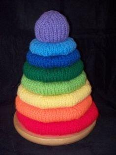 Crochet baby rings Stackems