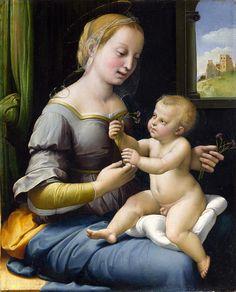 Virgen de las flores (Madonna of the pinks). de Rafael