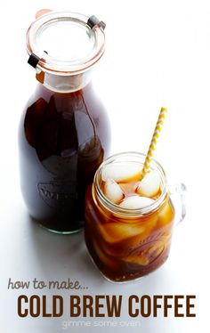 How To Make Cold Brew Coffee: a step-by-step photo tutorial and recipe | gimmesomeoven.com #diy