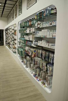 Pharmacy Shelving, Pharmacy Shelves, Pharmacy Design, Pharmacy Interior, modern pharmacy, Future Pharmacy, drug store design, Creative pharmacy shelves, Creative pharmacy shelving