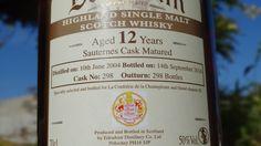 A déguster prochainement Whisky BALLECHIN 12 ans - single malt 50° Single Cask. Finition en fût de Sauternes, 298 bouteilles