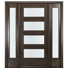 MAI Doors Mahogany Entry Door with Matching Sidelites - June 01 2019 at Door Design Interior, Interior Barn Doors, Exterior Doors, Entry Doors, Porch Doors, Interior Shutters, Exterior Remodel, Front Entry, Interior Paint