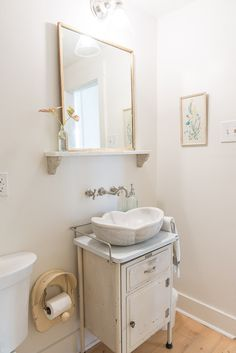 Not sure I like the potty seat as a tp holder, but I like the vanity and bowl.  I wonder if water will splash up?