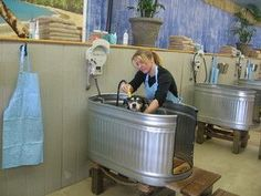 Image result for dog washing station diy