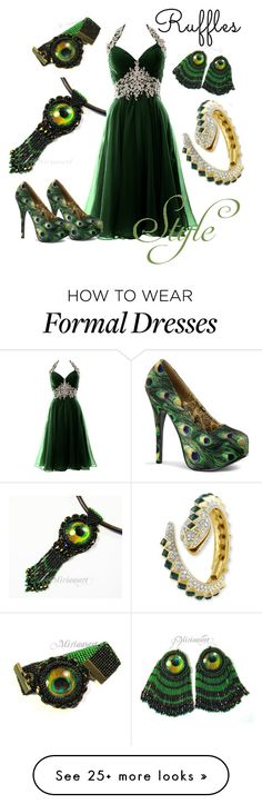 """Ruffles #1"" by rajshri on Polyvore featuring Kenneth Jay Lane, Bordello and ruffles"