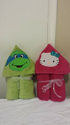 Ninja Turtle & Hello Kitty Baby Hooded Towel