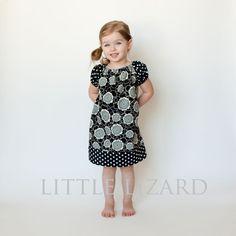 Peasant Dress SEWING PATTERN, Girls Long/Short Sleeve Tunic PDF, Brooke. $7.00, via Etsy.