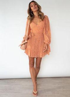 Zennie Dress - Orange Spot