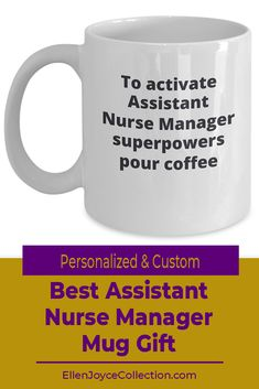 Wanna get your Assistant Nurse Manager friend an amazing personalized gift? This Assistant Nurse Manager mug is sure to make them smile. A wonderful gift for yourself or a friend. Choose your color: white or black. They're microwave Personalized Office Gifts, Personalized Wine Glasses, Personalized Tumblers, Personalized Water Bottles, Mother Birthday Gifts, Birthday Gifts For Husband, Job Memes, The Office Mugs, Gifts For Colleagues