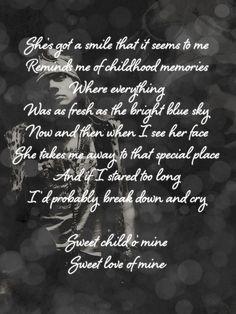 Sweet Child O' Mine - Guns & Roses  ❤❤❤