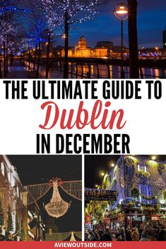 This is the ultimate guide on things to do in Dublin during the festive season - written by a local. From pantomime bus tours, bottomless popcorn singing events, Christmas markets, stunning Carol services and so much more. Dublin Zoo, Dublin Airport, Visit Dublin, Dublin City, Europe Travel Tips, European Travel, Travel Guides, Travel Destinations, Travelling Europe