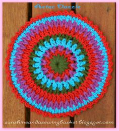 sunshine and a sewing basket: Aztec Dazzle Mandala Pattern