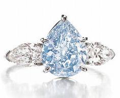 Christie's New York Jewelry auction  Vivid blue diamond ring $3,000,000