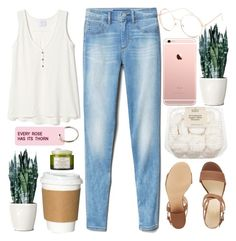 """Every Rose Has it's Thorn"" by sprinklesanddonuts ❤ liked on Polyvore featuring Gap, Nine West, Various Projects, Fresh and Full Tilt"