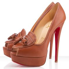 Christian Louboutin Alta Campus 150mm Leather Peep Toe Pumps Noc [CLA0639] - $132.00 : Designershoes-shopping, World collection of Top Designer high heel UP TO 90% OFF!