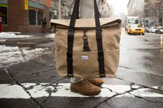 SSCY's, convertible tote/backpack, the Tack in Rockaway Beach Khaki. Ready for spring!