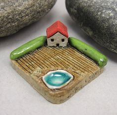 MyLand++Hot+Tub++++Collectible+3x3+cm+or+1.2x1.2+in.+by+elukka