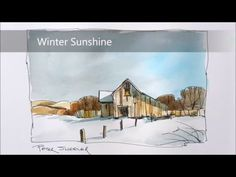 Line and wash demonstration of an Old Door watercolor painting. Easy to follow and learn - YouTube