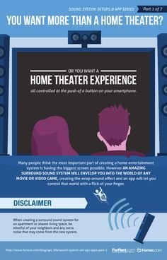 Create a sound system and #home #theater experience!