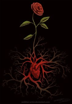 Love T-shirt Illustration by Jesus Velazquez a. Roots Drawing, Rose Illustration, Botanical Drawings, Rose Art, Love T Shirt, Gothic Art, Occult, Art Inspo, Painted Rocks