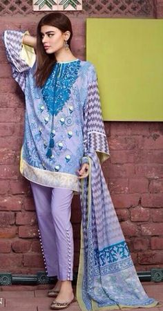 Buy Khaadi Lawn 2016 Suits with Stitching in Melbourne, Perth, Sydney, Australia. Khaadi Lawn Dresses 2016 Collection Available Now. Stylish Dresses, Casual Dresses, Casual Outfits, Fashion Outfits, Formal Outfits, Fasion, Casual Wear, Women's Fashion, Pakistani Dresses Online