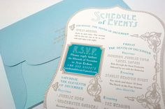 wedding invitations trends - bold retro fonts