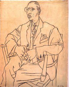 Pablo Picasso ~ Igor Stravinsky , 1920