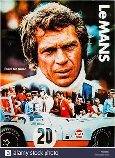 Buy online, view images and see past prices for Le Mans Steve Mac Queen Cinema Center film Invaluable is the world's largest marketplace for art, antiques, and collectibles. Steve Mcqueen Le Mans, Steve Mcqueen Cars, Steven Mcqueen, Sports Car Racing, Race Cars, Auto Racing, Steeve Mac Queen, 24 Hours Le Mans, Chevy Trucks