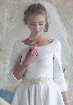 Velo de novia a los hombros - Foto Ruche Bridal