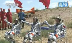 Success! China's Astronaut Trio Return to Earth    The Shenzhou-9 spacecraft touched down safely after a successful 13-day mission to test orbital docking technologies.