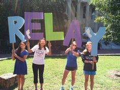 Relay Giant Letters - Relay For Life