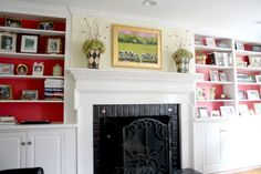 Don't miss this Spring Home Tour with Full Kitchen and Bar, Dining and Living Room remodels. Living Room Designs, Living Spaces, Painted Bookshelves, Bookcase Storage, Living Room Remodel, Spring Home, Great Rooms, House Tours, Home Remodeling