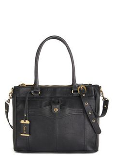 Corner Office Carryall Bag. Youve just gotten the promotion of a lifetime, so you're keeping yourself organized with this black satchel by Ollie  Nic! #black #modcloth